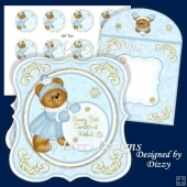 Little Miss Snowball Bear Card Kit and Gift Tags