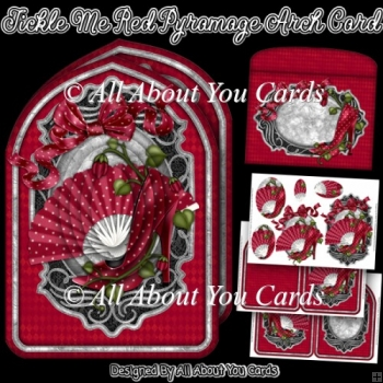 Tickle Me Red Pyramage Arch Card