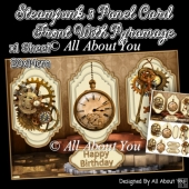Steampunk 3 Panel Card Front (1)