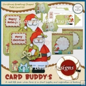 Christmas Greetings Shaped Fold Card Kit