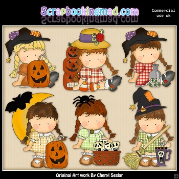 Agnus Loves Halloween ClipArt Collection
