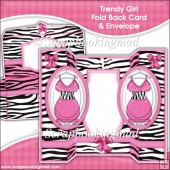 Trendy Girl Oval Double Foldback Card
