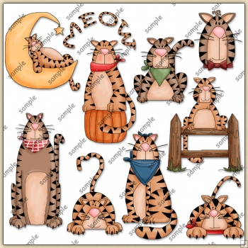 Kitty Cat Collection 1 ClipArt Graphic Collection