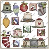 Christmas ClipArt Graphic Collection 1