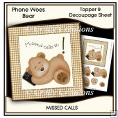 Phone Woes Topper & Decoupage Sheet - Missed Calls