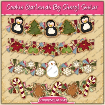 Christmas Cookie Garlands Graphic Collection - REF - CS