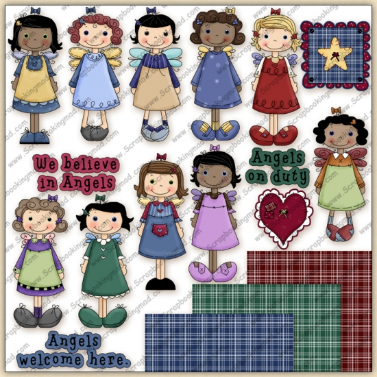 Sweet Angels 1 ClipArt Graphic Collection - Click Image to Close