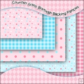5 Country Girls Birthday Backing Papers Download
