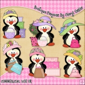 Boutique Penguins ClipArt Graphic Collection