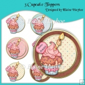 3 Cupcake Toppers