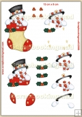 Snowman In A Stocking PDF Decoupage Download