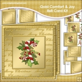Gold Comfort Joy Large 8x8 Card Kit