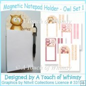 Owl Magnetic Notepad Holder