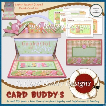 Easter Basket Shaped Easel Card Kit