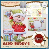 Christmas Elf Bearing Gifts Shaped Fold Card Kit