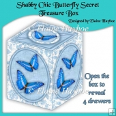 Shabby Chic Butterfly Secret Treasure Box