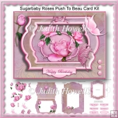 Sugarbaby Roses Push To Beau Card Kit