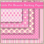 5 Little Pet Beautie Backing Papers Download