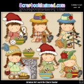 Agnus Loves Christmas ClipArt Collection