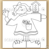 Bird Box Annie - Digital Stamps