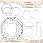 Scalloped Card, Insert & Envelope Template CU OK