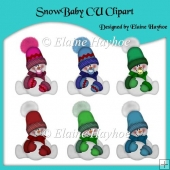 Snow Baby CU Clipart