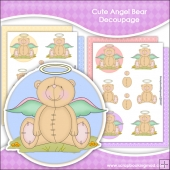 Cute Angel Bear Decoupage Download