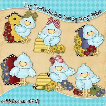 Tiny Tweets Birds & Bees ClipArt Graphic Collection