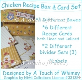 Chicken Recipe Box & Card Set