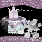 Make Time For A Cuppa Exploding Box Calendar
