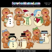 Ginger Friends Winter Wonderland ClipArt Collection