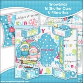 Snowbirds Tri Shutter Card With Matching Pillow Box