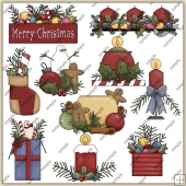 Christmas Arrangements ClipArt Graphic Collection