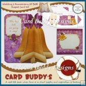 Wedding & Anniversary 3D Bell Shaped Card Kit
