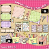 Scrapbook Supplies ClipArt Graphic Collection