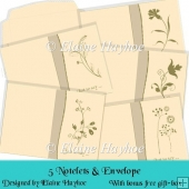 5 Notelets and Envelope with Free Gift-Box