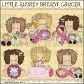Little Audrey Breast Cancer ClipArt Graphic Collection