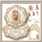Go Clubbing On Your Birthday Scalloped Easel Card Kit