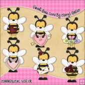 Sweet Beez Love ClipArt Graphic Collection