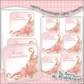 Happy Aniversary Single Layer Card Toppers