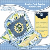 Denim and Daisies Easel Card