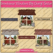 Farmhouse Windows Graphic Collection - REF - CS