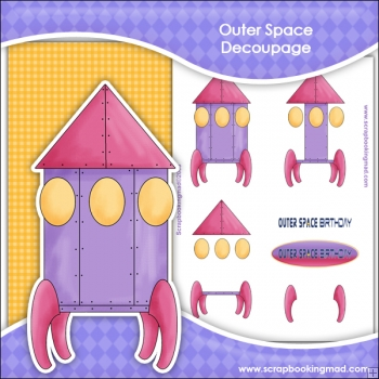 Outer Space Decoupage Download