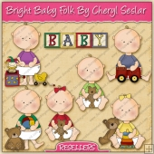 RESALE ART WORK - Bright Baby Folk Collection