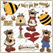 Bee Mine ClipArt Graphic Collection