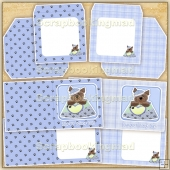 Blue Woof The Adorable Little Doggie Card, Insert & Envelope