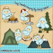 Tiny Tweets Camping ClipArt Graphic Collection