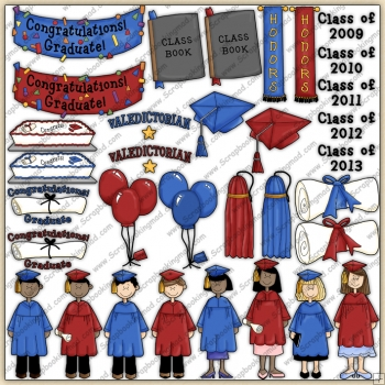 Graduation ClipArt Graphic Collection