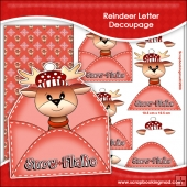 Reindeer Letter Decoupage Download
