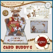 Friendly Reindeer Shaped Easel Card Kit